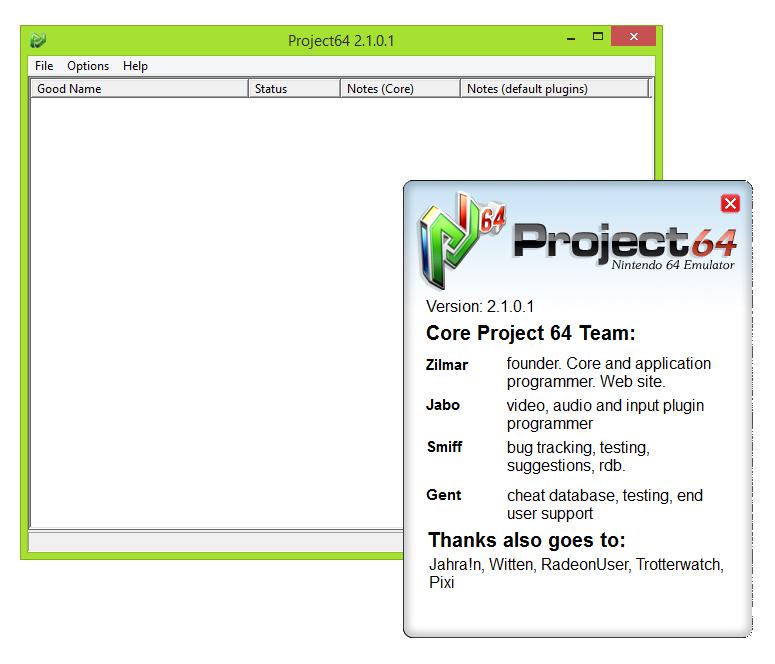 Télécharger Project64 pour pc