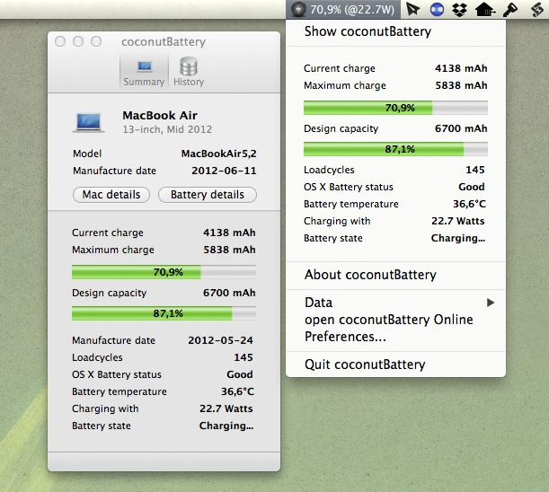 Télécharger CoconutBattery pour Mac