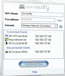 Télécharger Connectify Hotspot