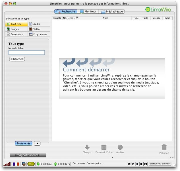 Télécharger Limewire pour Mac