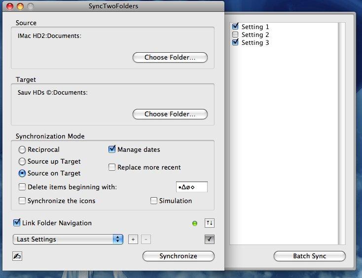Télécharger SyncTwoFolders pour Mac